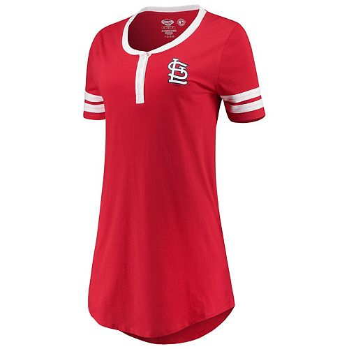 Women's Concepts Sport Red St. Louis Cardinals Duo Nightshirt