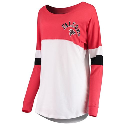 Women's New Era Red Atlanta Falcons Varsity Athletic Long Sleeve T-Shirt
