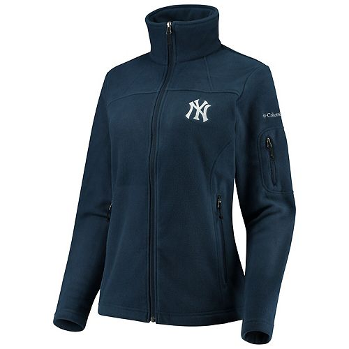 Women's Columbia Navy New York Yankees Give & Go Full-Zip Jacket