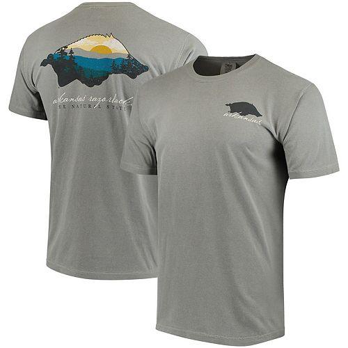 Men's Gray Arkansas Razorbacks Comfort Colors Local T-Shirt