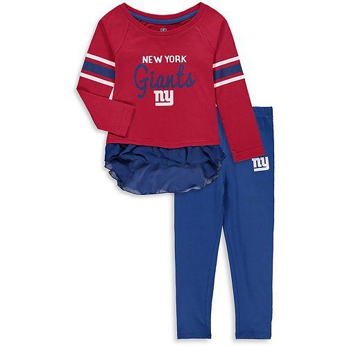 Girls Toddler Red New York Giants Mini Formation Set