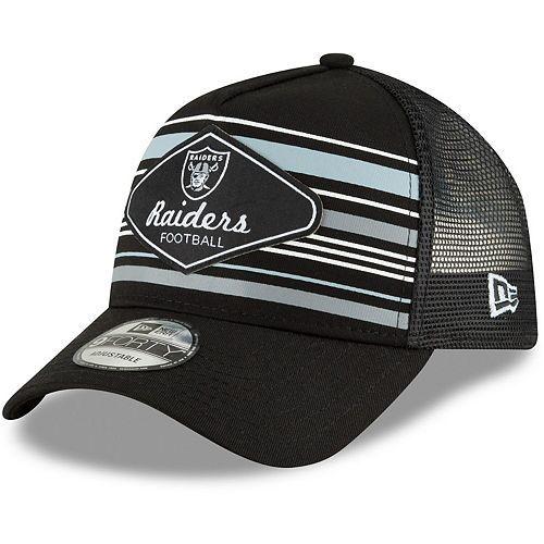 Men's New Era Black Oakland Raiders Mavericks A-Frame 9FORTY Adjustable Snapback Hat