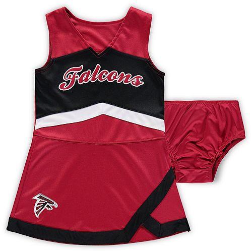 Girls Preschool Red/Black Atlanta Falcons Cheer Captain Jumper Dress