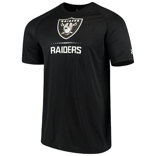 Men's Under Armour Black Oakland Raiders Authentic Combine Lockup Tech T-Shirt