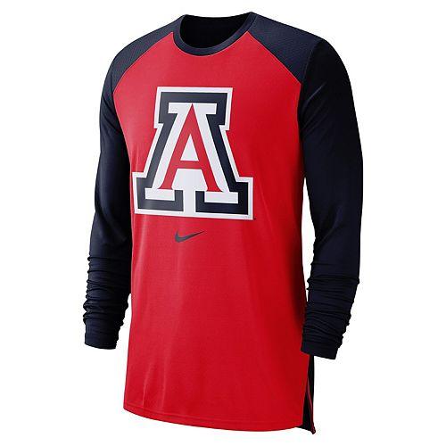 Men's Nike Red Arizona Wildcats On-Court Basketball Elite Performance Long Sleeve T-Shirt