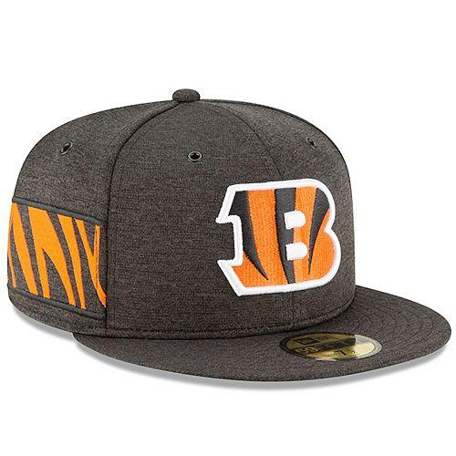 Men's New Era Black Cincinnati Bengals 2018 NFL Sideline Home Official 59FIFTY Fitted Hat