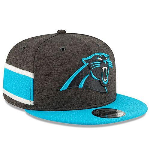 Youth New Era Black/Blue Carolina Panthers 2018 NFL Sideline Home 9FIFTY Snapback Adjustable Hat