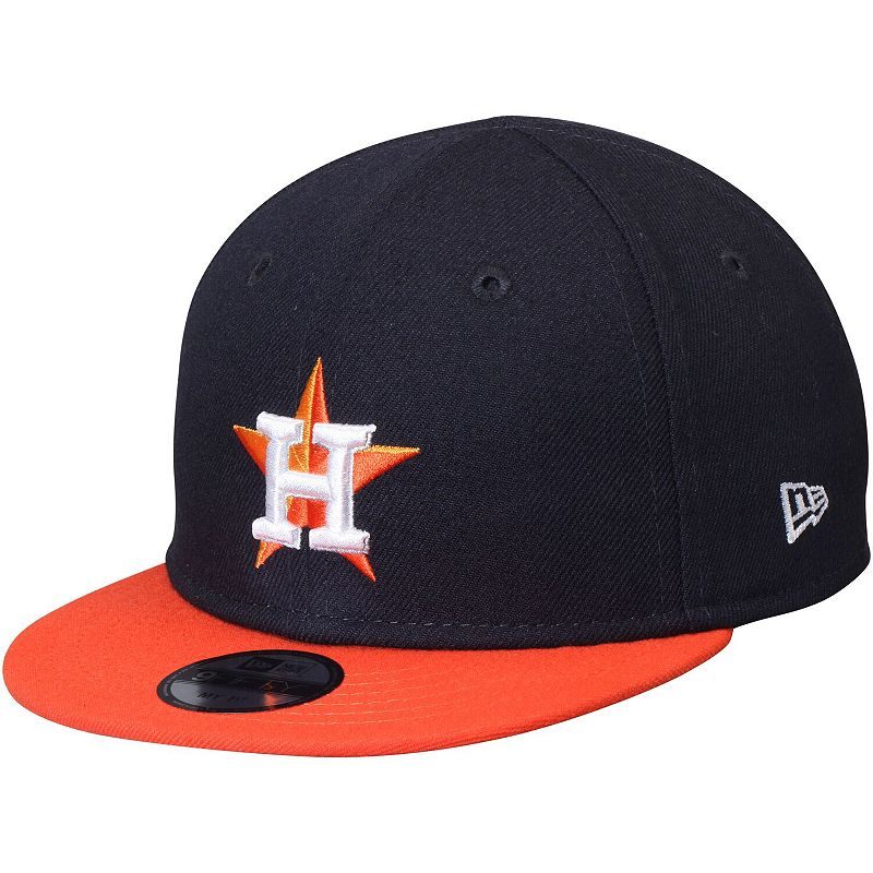 Infant New Era Navy/Orange Houston Astros My First 9FIFTY Adjustable Hat. Blue