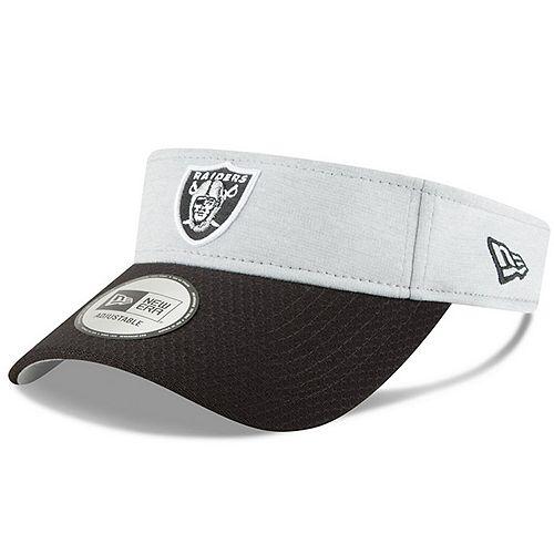 Men's New Era Heather Gray/Black Oakland Raiders 2018 NFL Sideline Home Official Visor