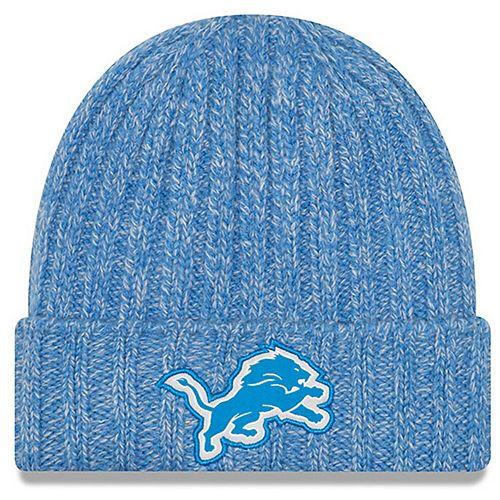 Women's New Era Blue Detroit Lions 2018 NFL Sideline Cold Weather Official Knit Hat
