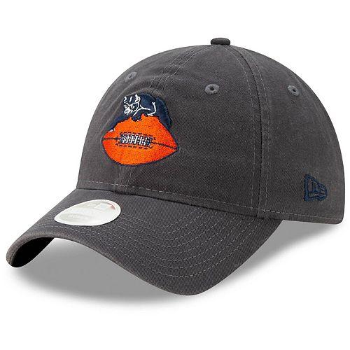 Women's New Era Graphite Chicago Bears Throwback Logo Core Classic 9TWENTY Adjustable Hat