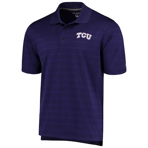 Men's Champion Purple TCU Horned Frogs Textured Polo