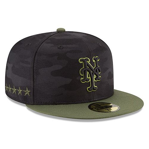 Men's New Era Black New York Mets 2018 Memorial Day On-Field 59FIFTY Fitted Hat