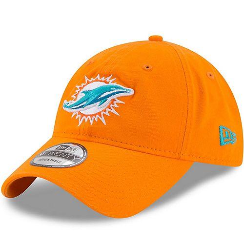 Women's New Era Orange Miami Dolphins Secondary Core Classic 9TWENTY Adjustable Hat