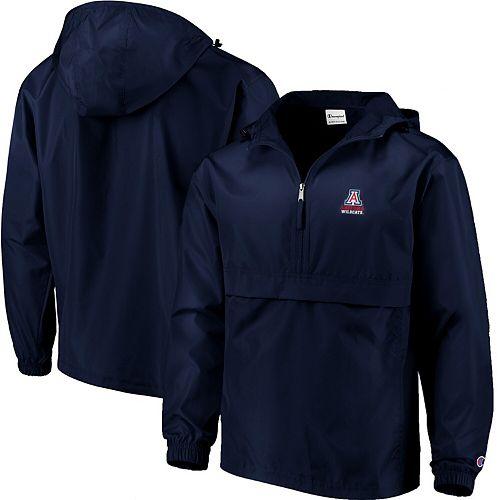 Men's Champion Navy Arizona Wildcats Packable Jacket