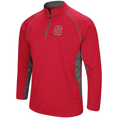 Men's Colosseum Red NC State Wolfpack Quarter-Zip Windshirt