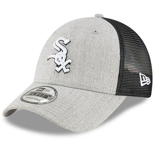 Men's New Era Heathered Gray/Black Chicago White Sox Turn Trucker 9FORTY Adjustable Snapback Hat