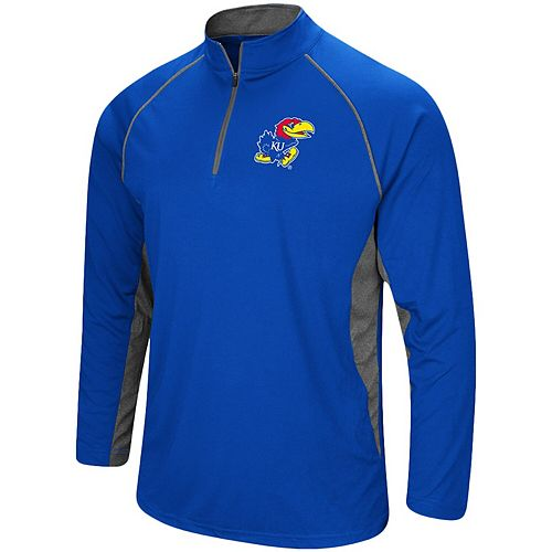 Men's Colosseum Royal Kansas Jayhawks Quarter-Zip Windshirt