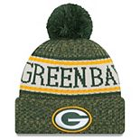 Youth New Era Green Green Bay Packers 2018 NFL Sideline Cold Weather Sport Knit Hat