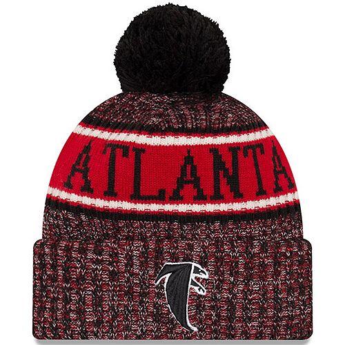 Men's New Era Black Atlanta Falcons 2018 NFL Sideline Cold Weather Reverse Sport Knit Hat