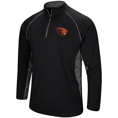 Men's Colosseum Black Oregon State Beavers Quarter-Zip Windshirt