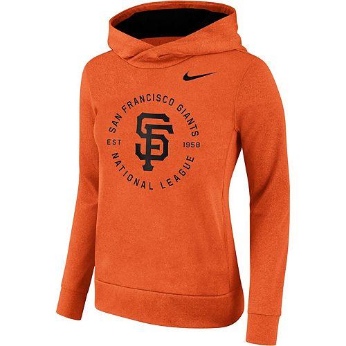Women's Nike Orange San Francisco Giants Therma Pullover Hoodie