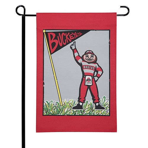 "Ohio State Buckeyes 12"" x 18"" Mascot Double-Sided Garden Flag"