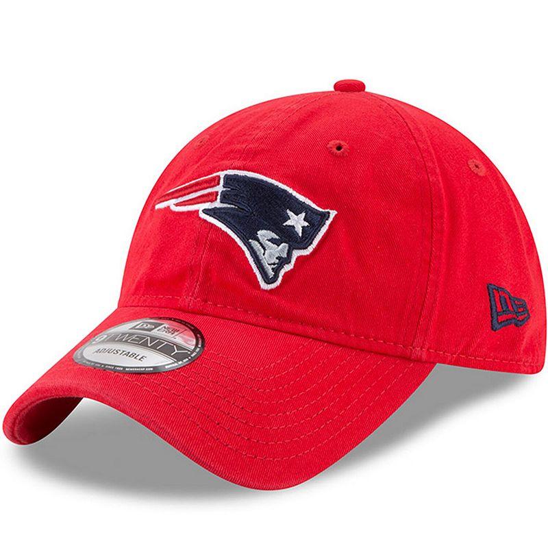 Women's New Era Red New England Patriots Secondary Core Classic 9TWENTY Adjustable Hat