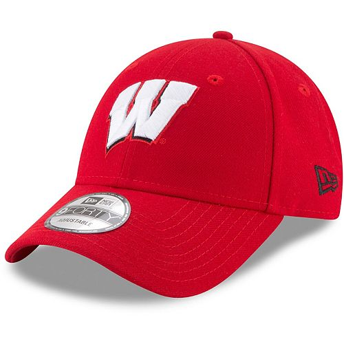 Men's New Era Red Wisconsin Badgers The League 9FORTY Adjustable Hat