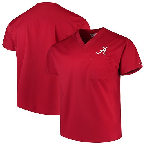 Crimson Alabama Crimson Tide Team V-Neck Scrub Top