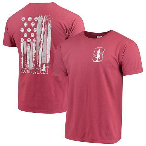 Men's Cardinal Stanford Cardinal Baseball Flag Comfort Colors T-Shirt