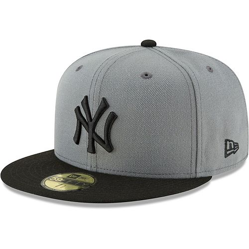 Men's New Era Gray/Black New York Yankees Two-Tone 59FIFTY Fitted Hat