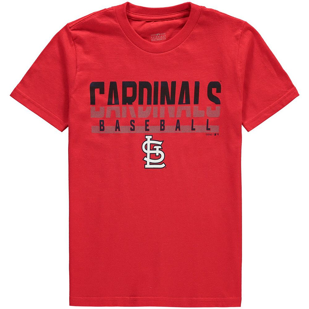 Youth Red St. Louis Cardinals Wild Card Cotton T-Shirt