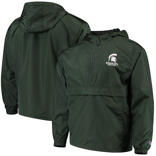 Men's Champion Green Michigan State Spartans Packable Jacket