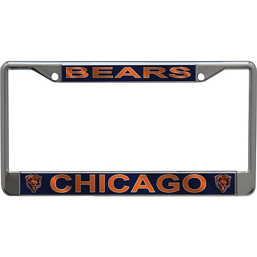 Chicago Bears Metallic License Plate Frame