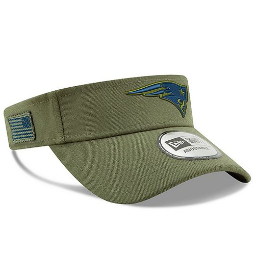 Men's New Era Olive New England Patriots 2018 Salute to Service Visor