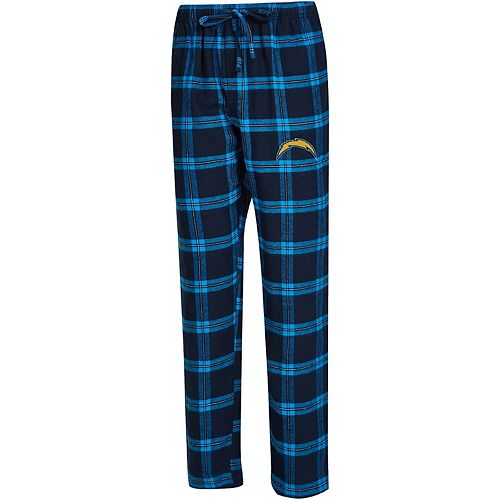 Men's Concepts Sport Navy/Powder Blue Los Angeles Chargers Big & Tall Homestretch Flannel Pants