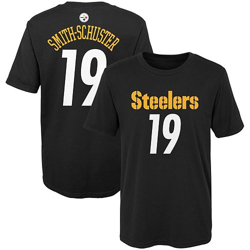 Preschool JuJu Smith-Schuster Black Pittsburgh Steelers Mainliner Name & Number T-Shirt