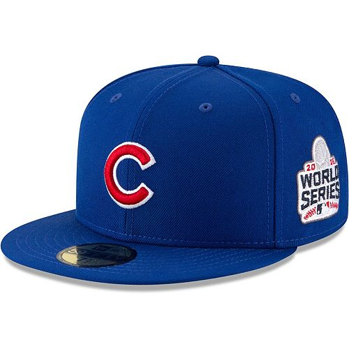 Men's New Era Royal Chicago Cubs 2016 World Series Wool 59FIFTY Fitted Hat