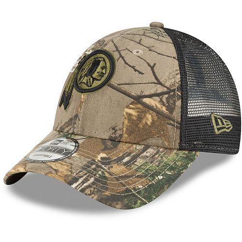 Men's New Era Camo/Black Washington Redskins Team Trucker 9FORTY Adjustable Hat