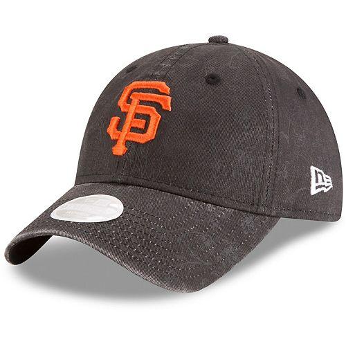 Women's New Era Black San Francisco Giants Floral Peek 9TWENTY Adjustable Hat