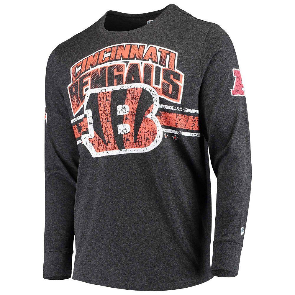Men's G-III Extreme Black Cincinnati Bengals Extreme Jump Shot Long Sleeve T-Shirt
