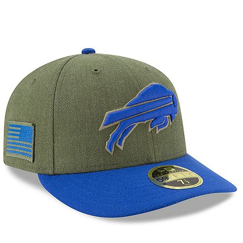 Men's New Era Olive/Royal Buffalo Bills 2018 Salute to Service Sideline Low Profile 59FIFTY Fitted Hat