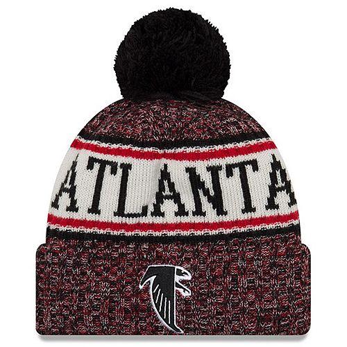 Men's New Era Red Atlanta Falcons 2018 NFL Sideline Cold Weather Official Historic Sport Knit Hat