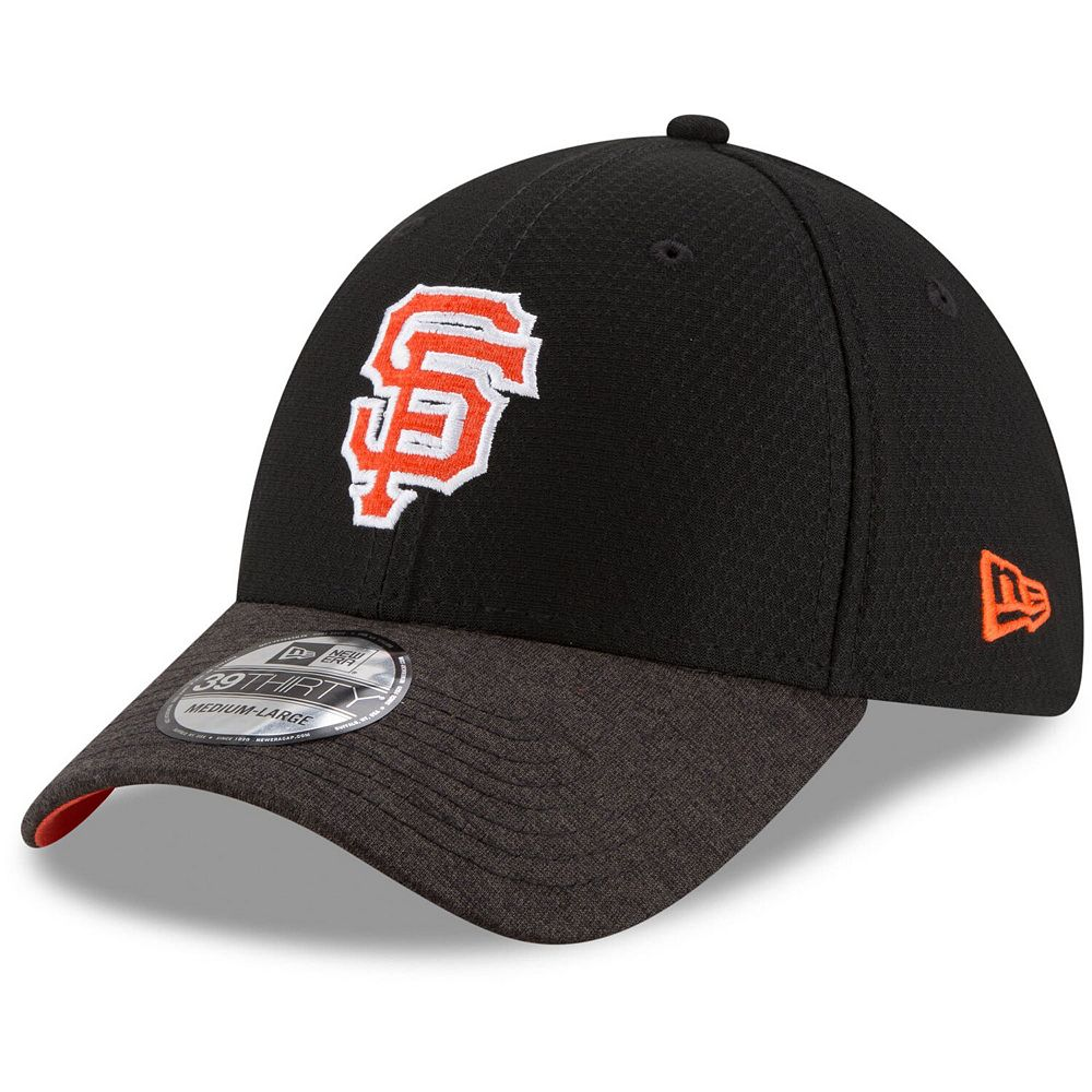 Men's New Era Black San Francisco Giants Popped Shadow 39THIRTY Flex Hat