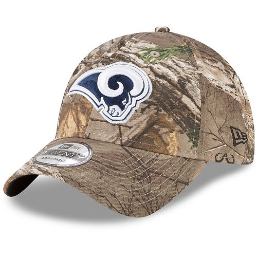 Men's New Era Realtree Camo Los Angeles Rams Realtree 9TWENTY Adjustable Hat