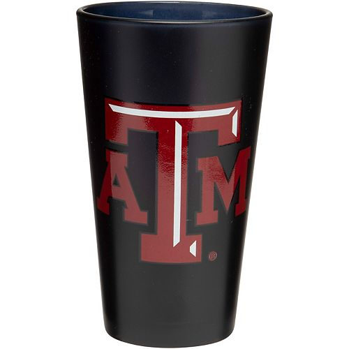 Texas A&M Aggies 16 oz. Team Color Frosted Pint Glass
