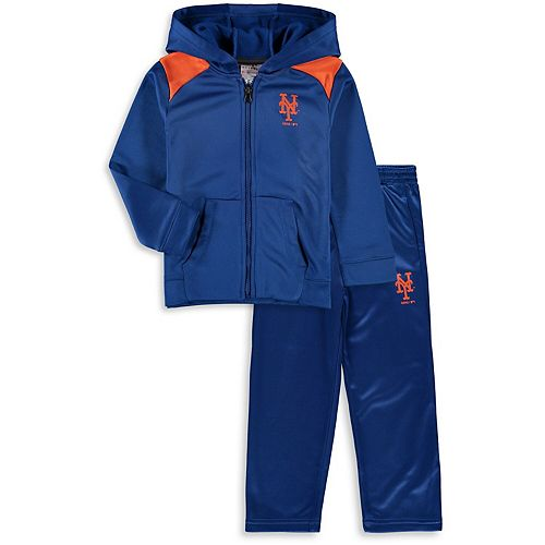 reputable site 20f5d 9eafc Toddler Majestic Royal New York Mets Play Action Full-Zip ...