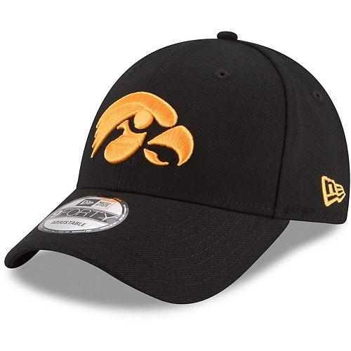 Men's New Era Black Iowa Hawkeyes The League 9FORTY Adjustable Hat