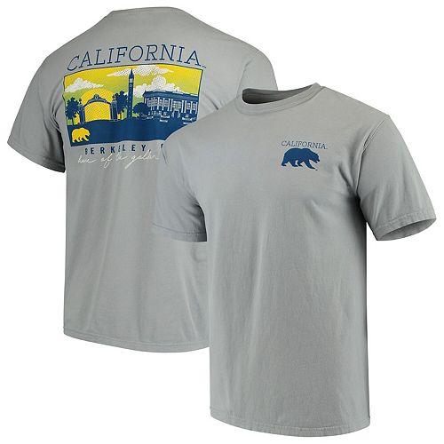 Men's Gray Cal Bears Team Comfort Colors Campus Scenery T-Shirt